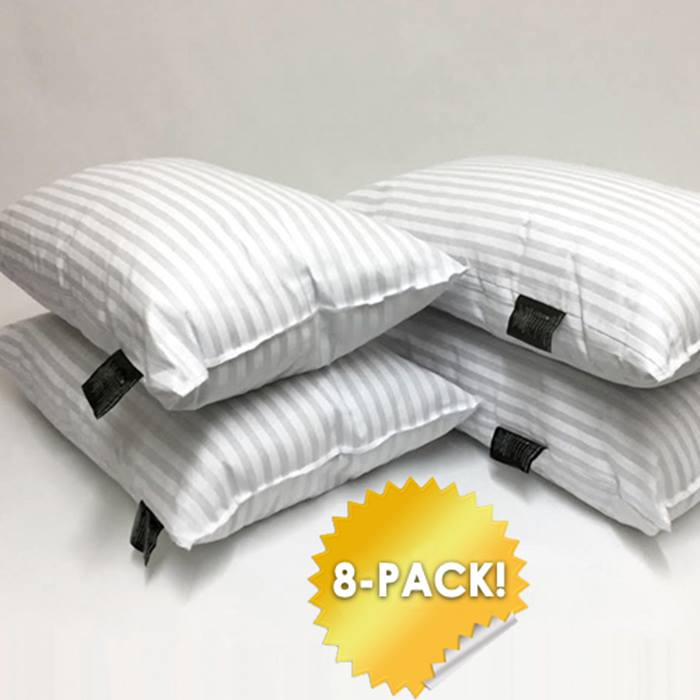 Hotel-Quality Stripe Pillows 4 or 8