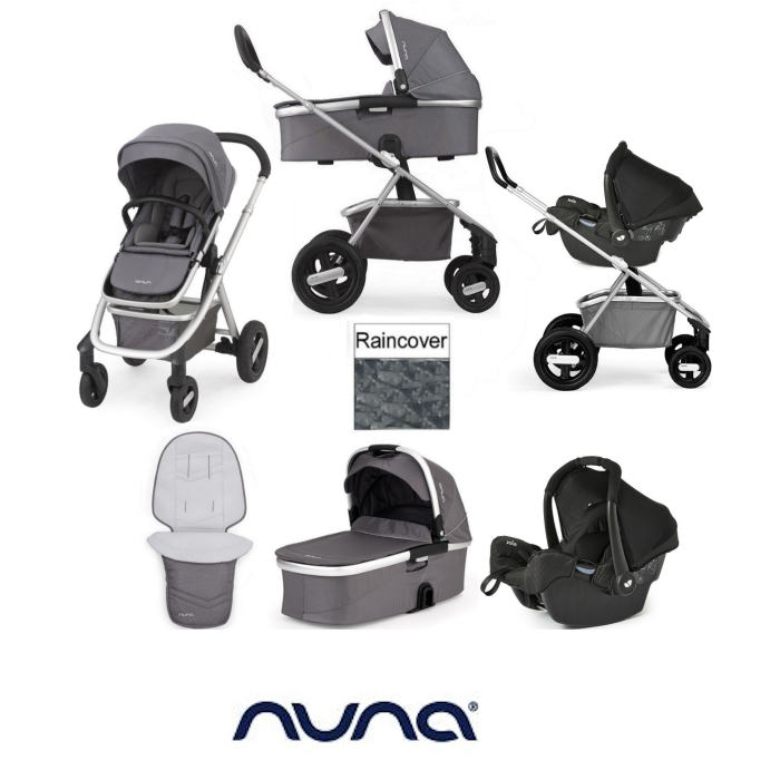 Nuna Ivvi Savi 3 In 1 Pram / Pushchair Gemm Travel System