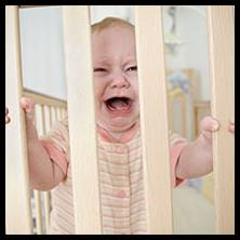 Your baby won't sleep in a cot