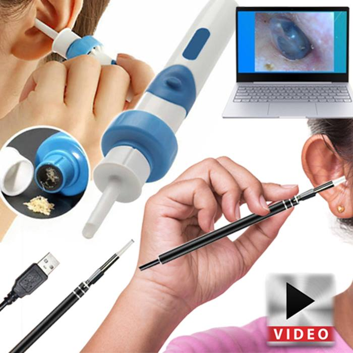 Ear Wax Cleaning Vacuum and Micro-Camera Remover