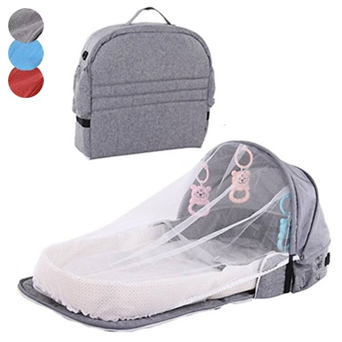2-in-1 Portable Baby Bed Bag - 3 Colours