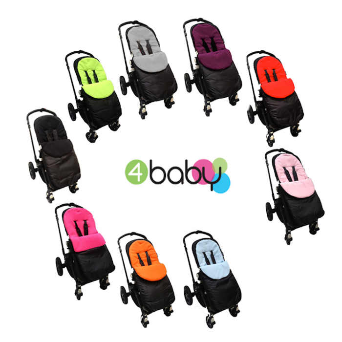 4baby Shower-Proof Fleece Pushchair Footmuff
