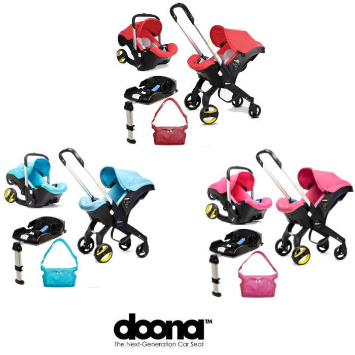 Doona Infant Car Seat Stroller With Isofix Base Changing Bag