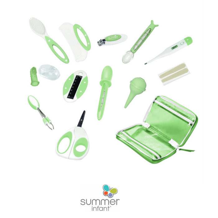 Summer Infant 14 Piece Deluxe Baby Health, Hygiene, Grooming & Bath Kit With Fabric Case