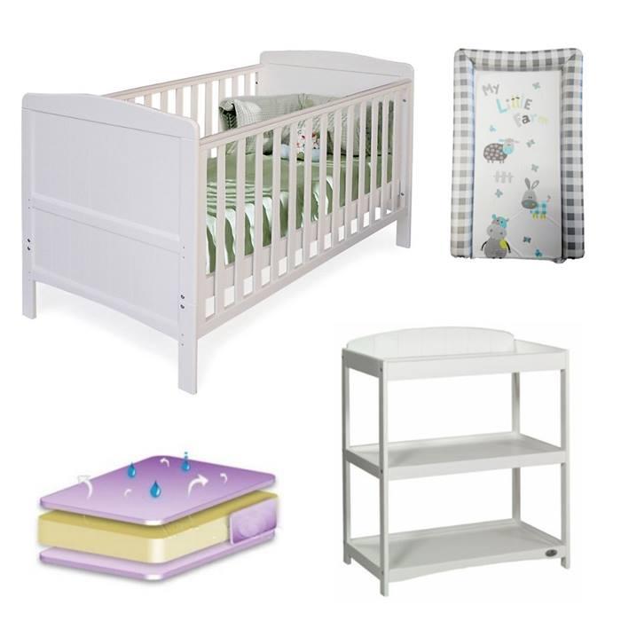 Babylo Sienna 4 Pc Room Set (White)