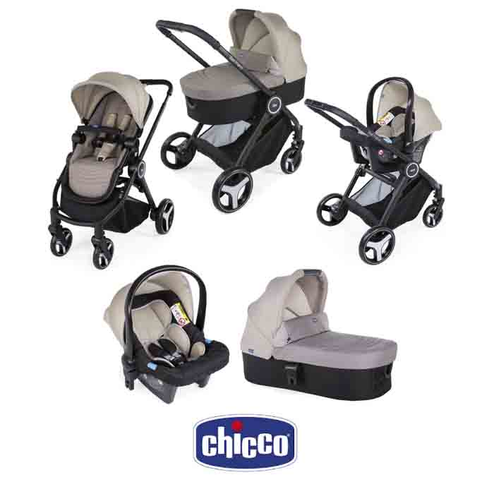 Chicco Trio Best Friend 3-in-1 Travel System - Beige