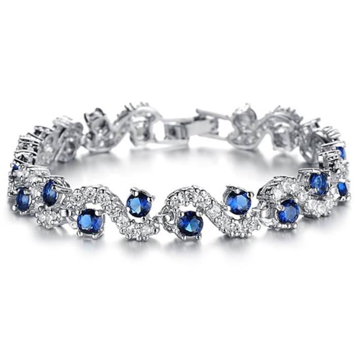 Swarovski Blue Sapphire Crystal Bracelet