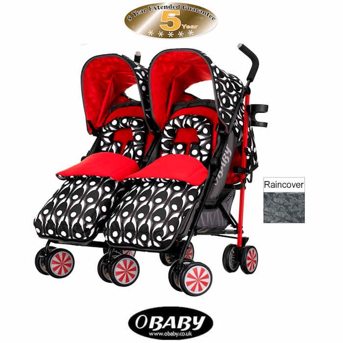 Obaby Leto Plus Twin Stroller - Eclipse