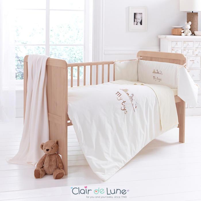 Clair De Lune 4 Piece My Toys Cot - Cot Bed Bedding Set - Cream