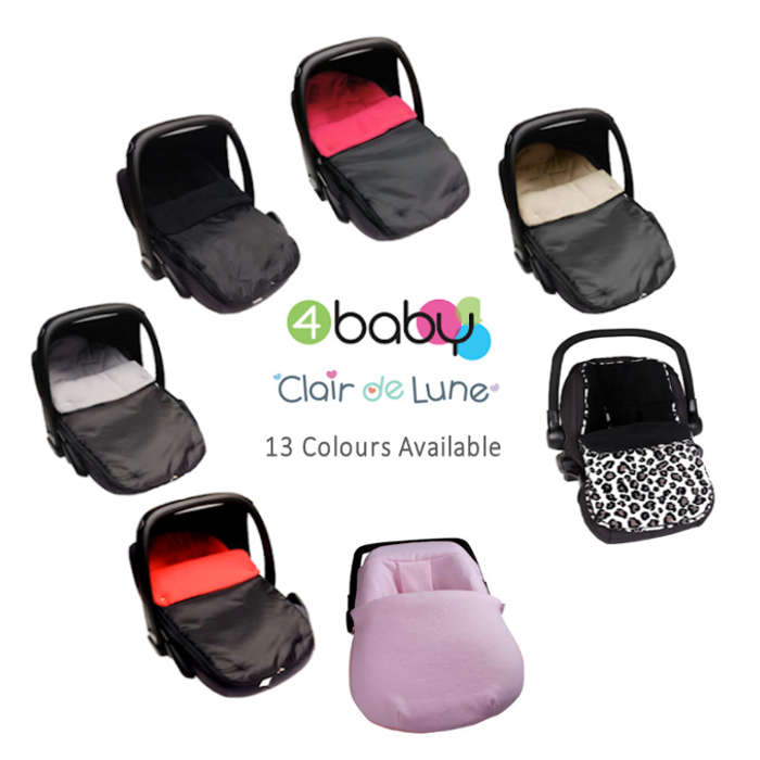4baby  Clair de lune ShowerProof Fleece Car Seat Footmuff