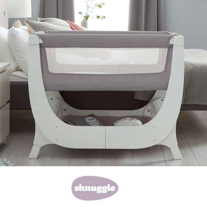 Shnuggle Air Bedside Crib with Crib Mattress
