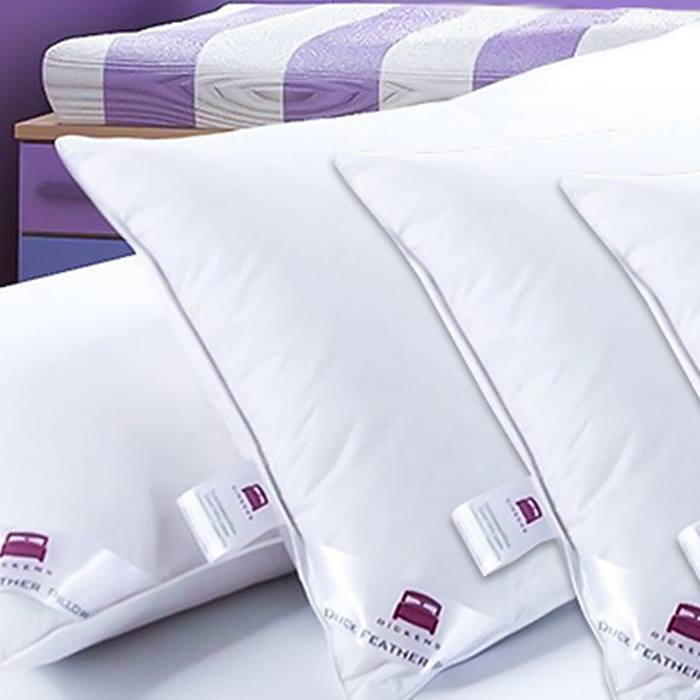 Hotel Quality Extra-Filled Duck Feather Pillows - 2 or 4
