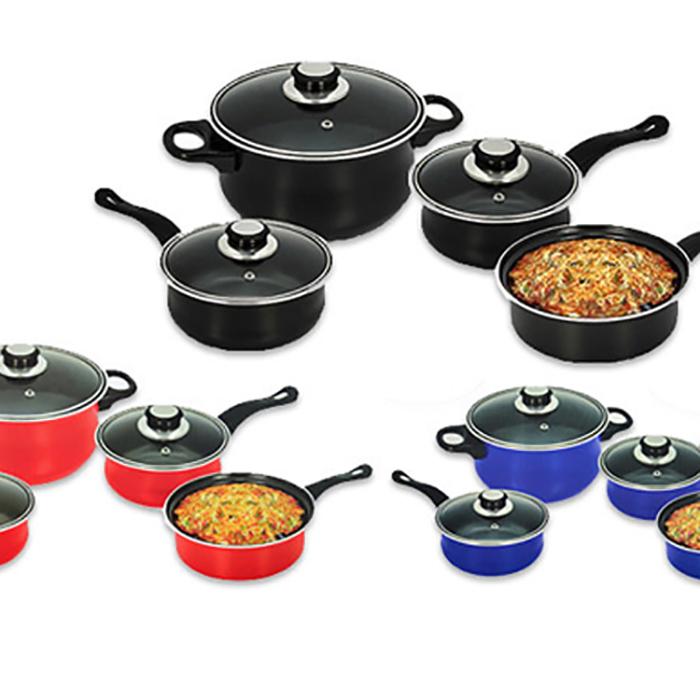 7-Piece Non-Stick Cookware Set - 3 Colours