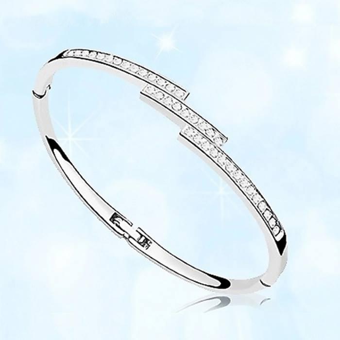 Swarovski Elements Triple Crystal Row Bracelet