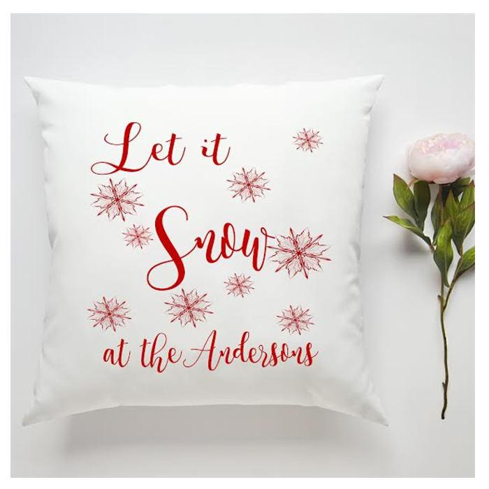 personalised christmas cushion main image