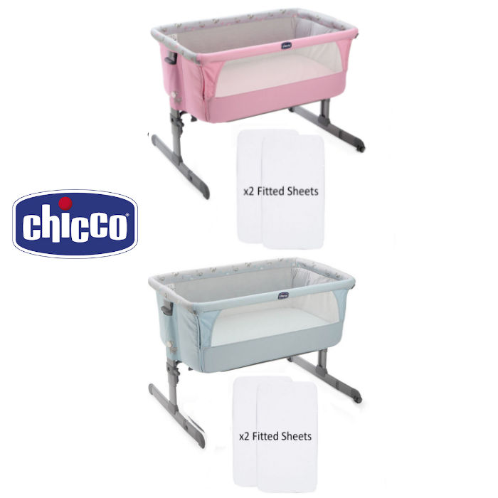 Chicco Next2Me Crib With 2 Fitted Sheets