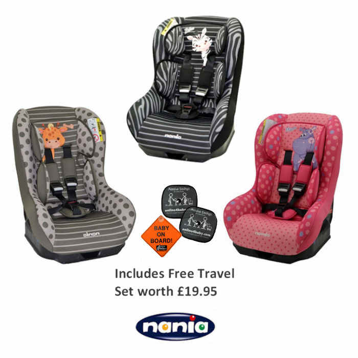 Nania SP Driver Group 0-1 Car Seat AND TRAVEL PACK