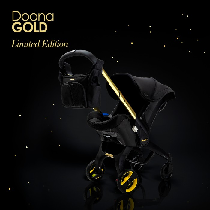 Doona Infant Car Seat Stroller Special Edition - Black and Gold
