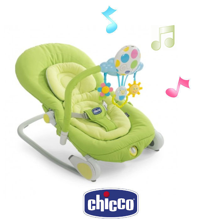 Chicco Balloon Baby Bouncer Rocking Chair With Sounds - Spring