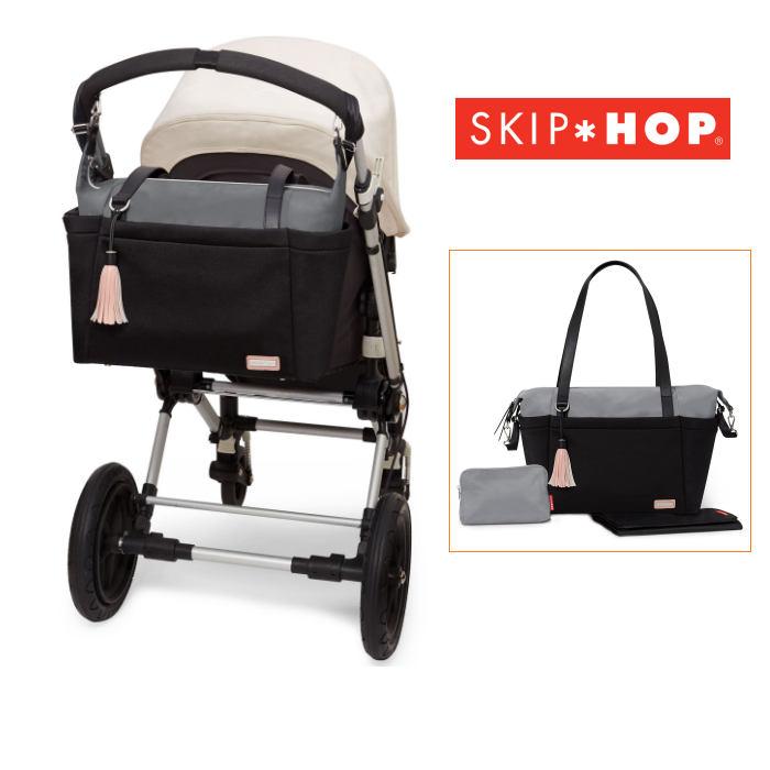Skip Hop Nolita Neo Tote Changing Bag - Grey - Black