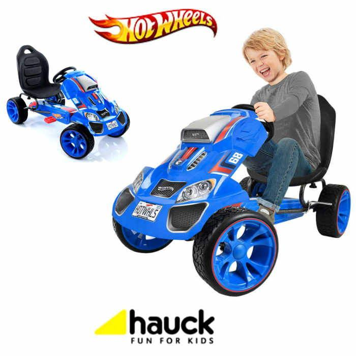 Hot Wheels XL Pedal Grow With Child Go-Kart (4-12yrs) - Blue