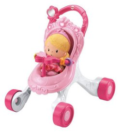 Fisher Price Princess Chime Doll & Stroller Gift Set