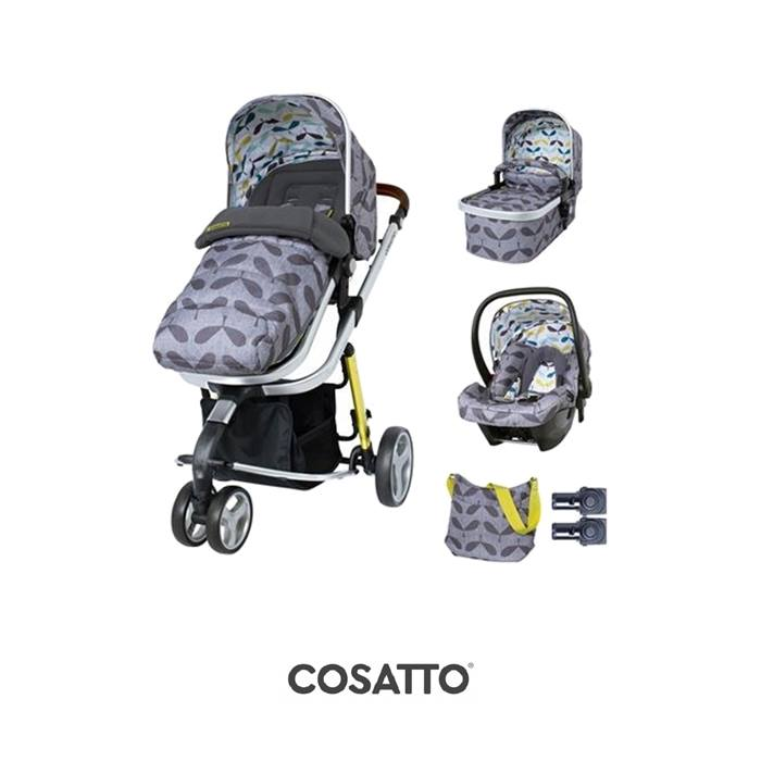 Cosatto Giggle 3 Travel System & Accessories Bundle-Seedling