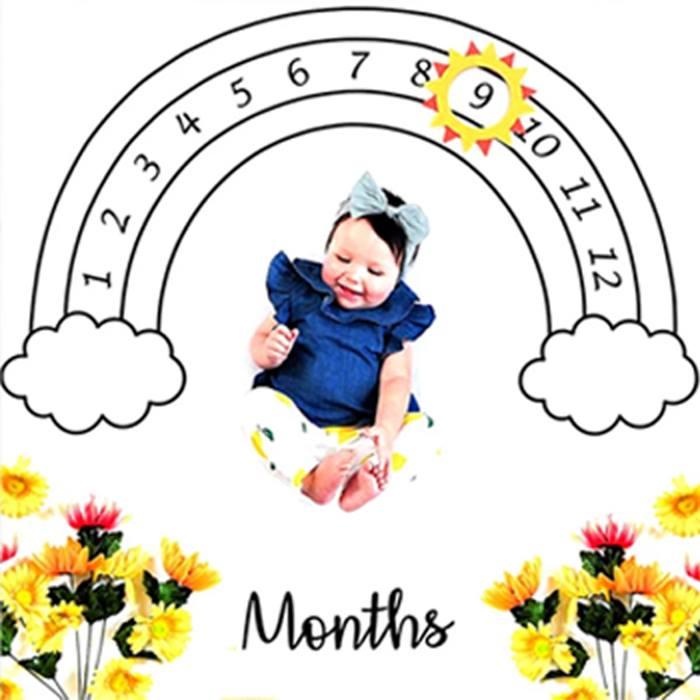 Baby Memory Milestone Blanket - 4 Designs