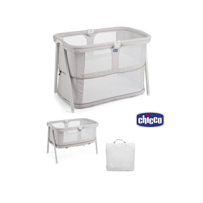 Chicco Lullago Zip Crib  Baby Bed - Light Grey
