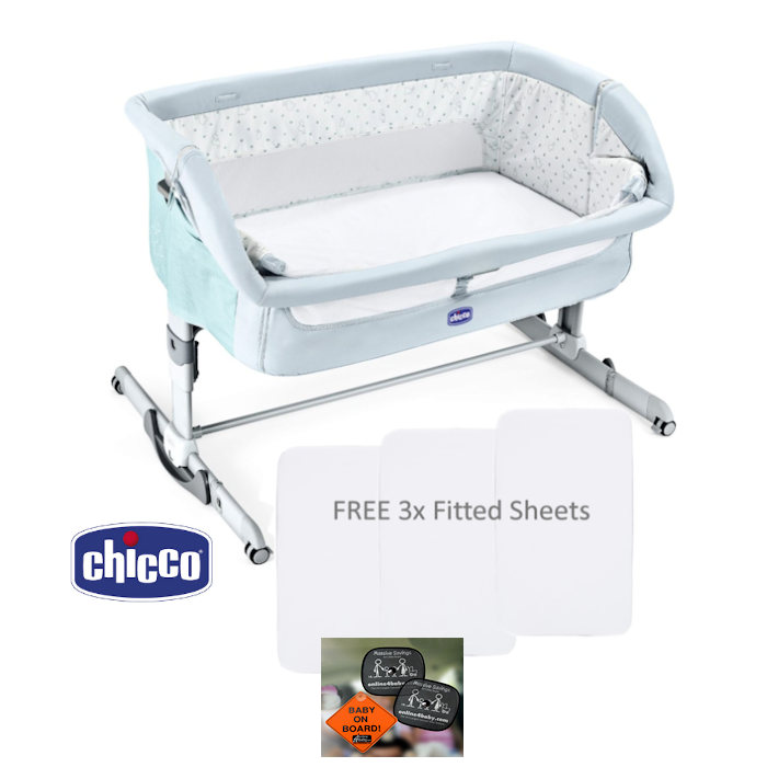 Chicco Next2Me Dream Crib With 3 Fitted Sheets  Auto Pack  Fairy Tale