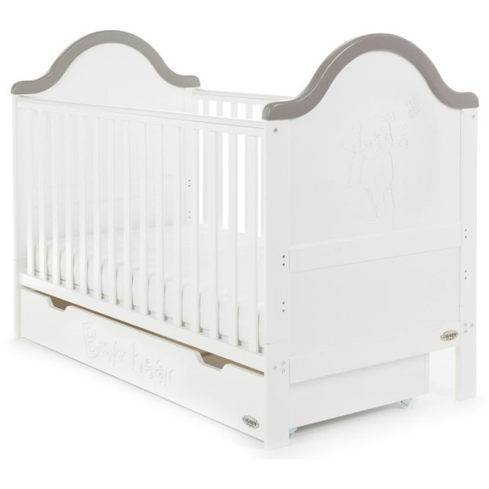 obaby-b-is-for-bear-cot-bed-including-under-drawer-white-with-taupe-grey-new-2017