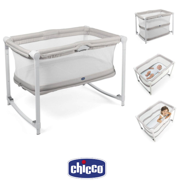 Chicco Zip Go Travel Cot Side Crib Glacial