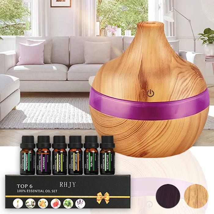Electric Aroma Humidifier With Optional Essential Oils - 3 Designs