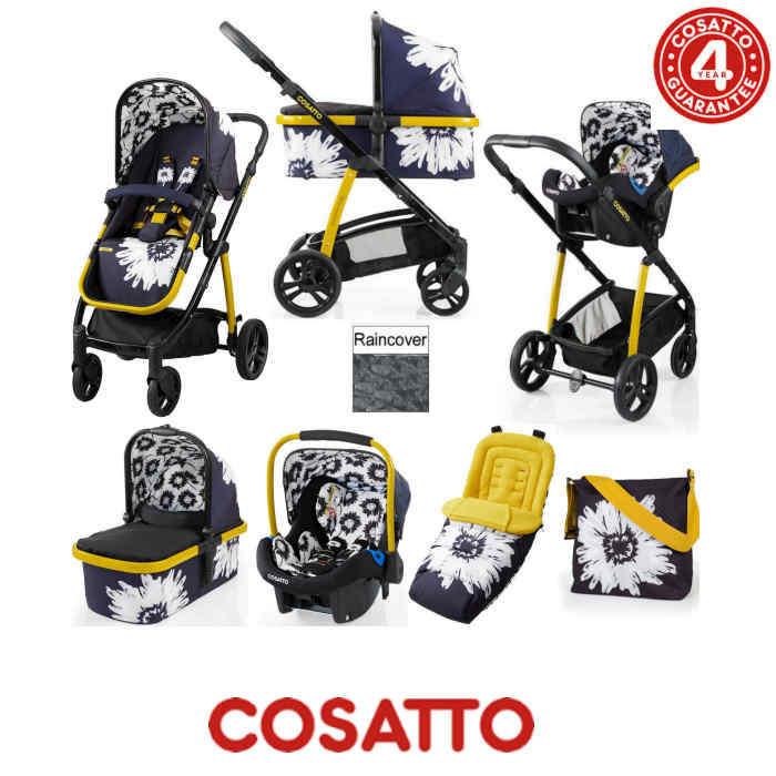 Cosatto Wow 3 in 1 Combi Travel System With Accessories - Sunburst