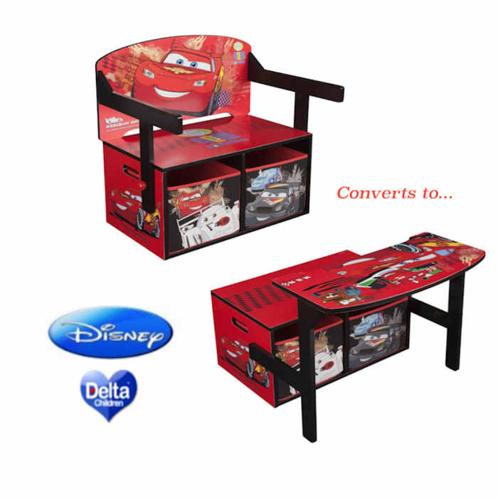 Delta Children 3in1 Convertible Bench-Desk - Disney Pixar Cars