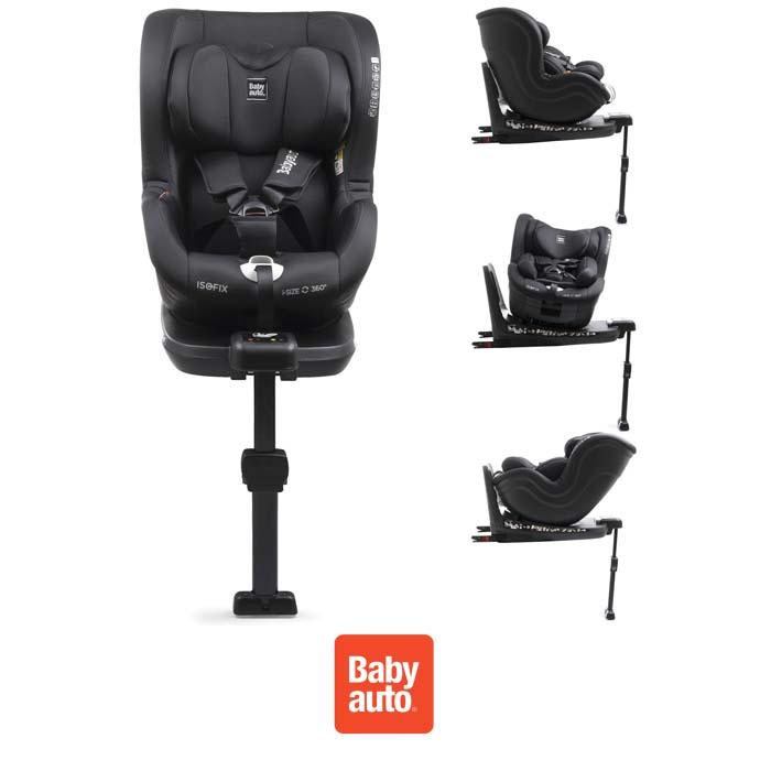 Babyauto Signa iSize Spin 360 Group 0123 ISOFIX Car Seat Black