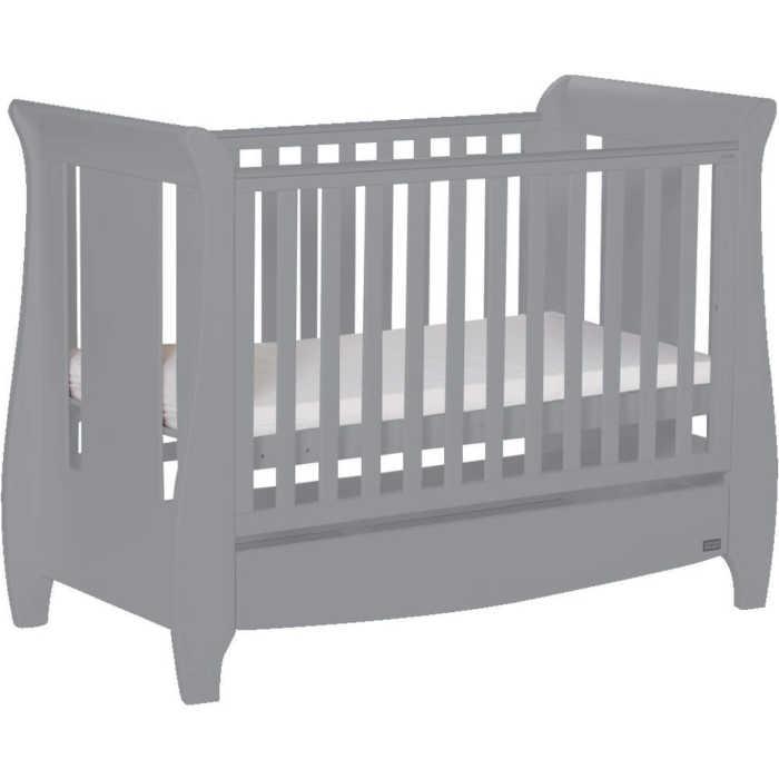 Tutti Bambini Katie Mini Cot Bed + Drawer (Cool Grey)