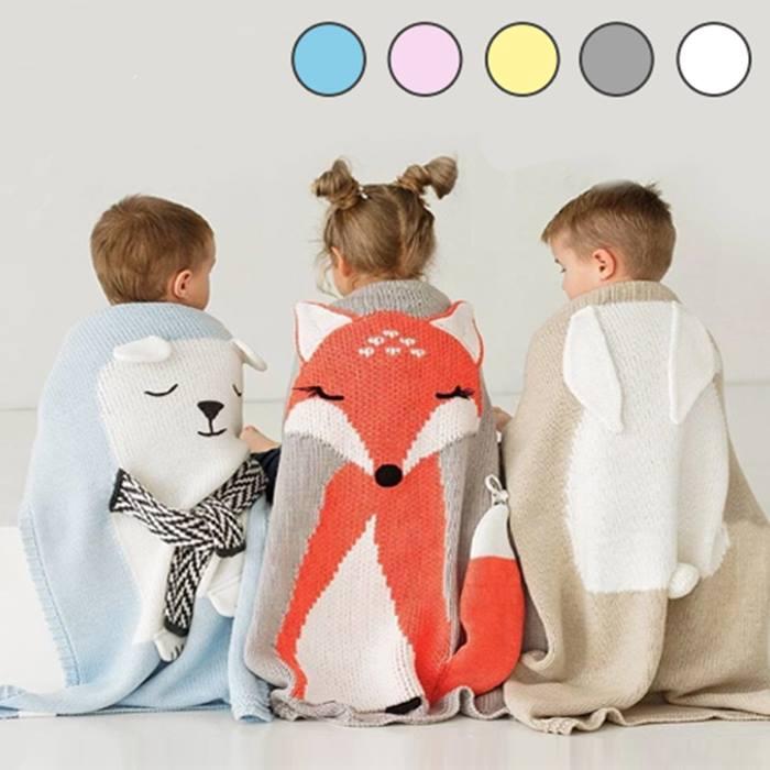 Knitted Animal Blanket