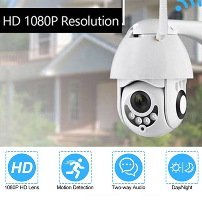 1080P Home Security Wi-Fi Camera with Night Vision