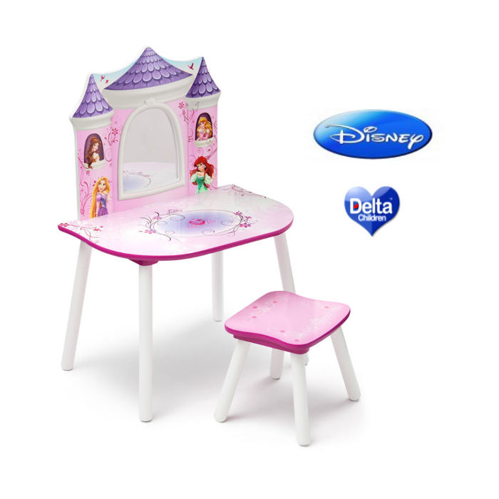Delta Children Dressing Table  Stool Vanity Table  Disney Princess