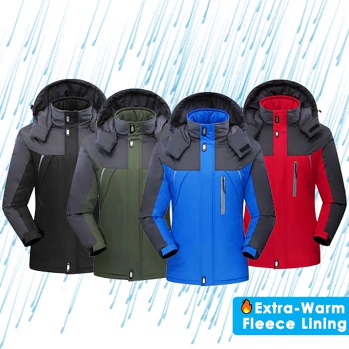 Wind & Waterproof Fleece Lined Unisex Coat - 4 Colours