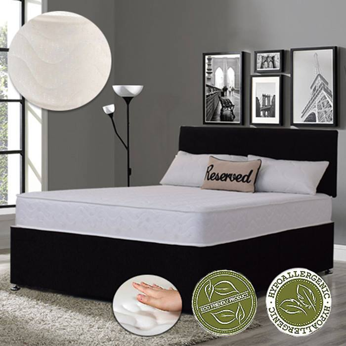 Luxury Soft Touch Memory Foam Sprung Mattress - 4 Sizes