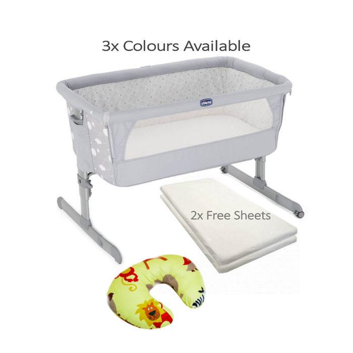 Chicco Next 2 Me Side Sleeping Crib_BUNDLE_circles_pillow zoo
