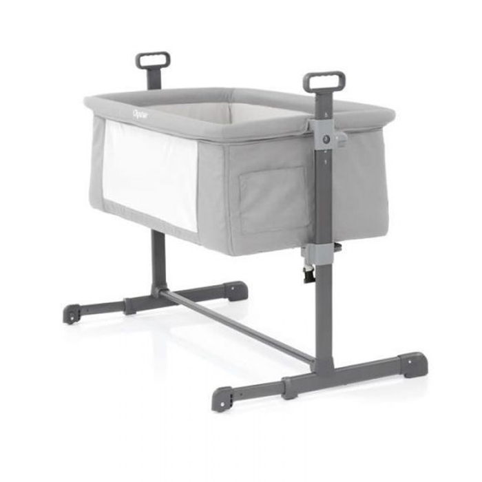 Oyster Bedside Crib - Pure Silver