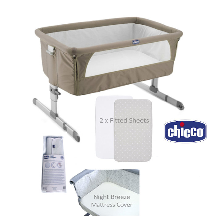 Chicco Offer  4 Piece Next 2 Me Bundle  Dove Grey