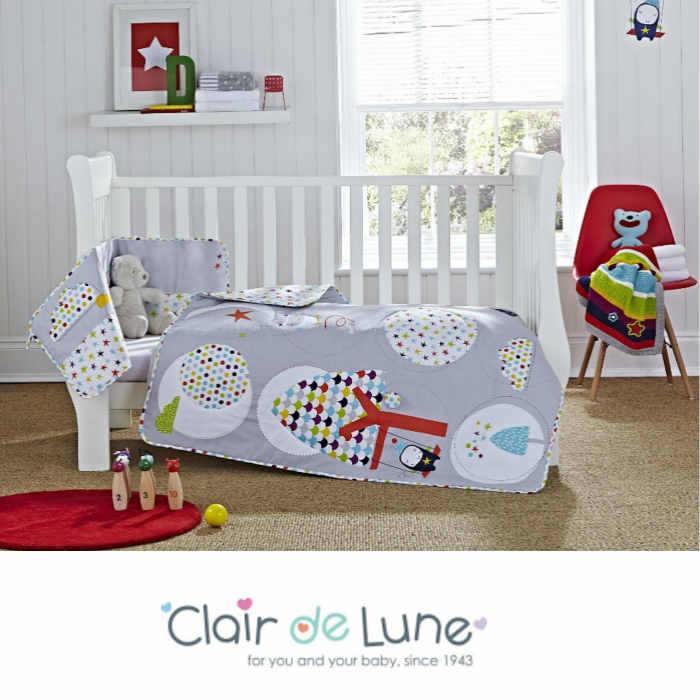 Clair De Lune Cot / Cot Bed 2 Piece Quilt & Bumper Set