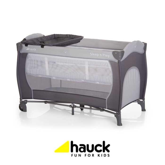 Hauck Sleep n Play Center Bassinet Travel Cot Playpen - Stone Grey