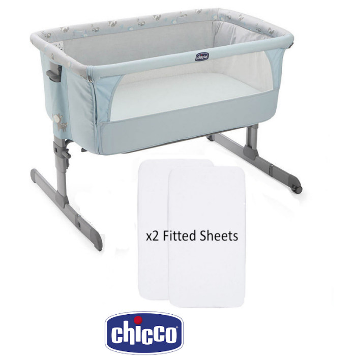 Chicco Limited Edition Next 2 Me Baby Side Sleeping - sky