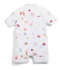 Mamas and Papas Seahorse Print Rash Suit