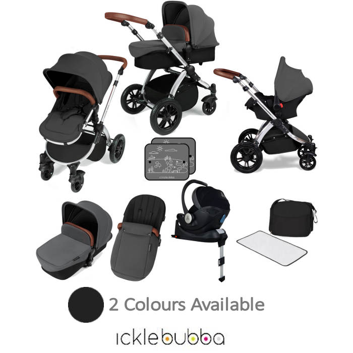 Ickle bubba Stomp V3 All In One i-Size (Mercury) Travel System & Isofix Base